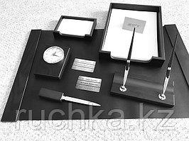 Настольный набор для руководителя Bestar, черный, 6 предметов