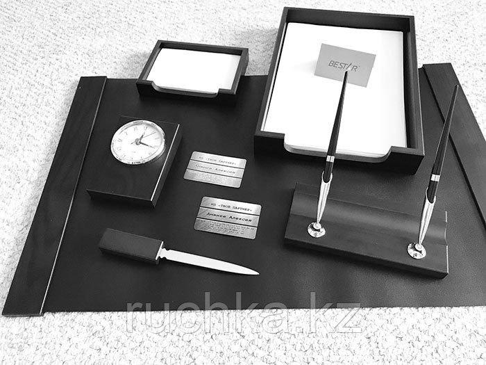 Настольный набор для руководителя Bestar, черный, 6 предметов - фото 1