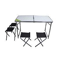 Комплект: стол раскладной + 4 табурета (Greenway, Казахстан)