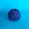 Шпагат хлопчатобумажный синий клубочек 100 м
