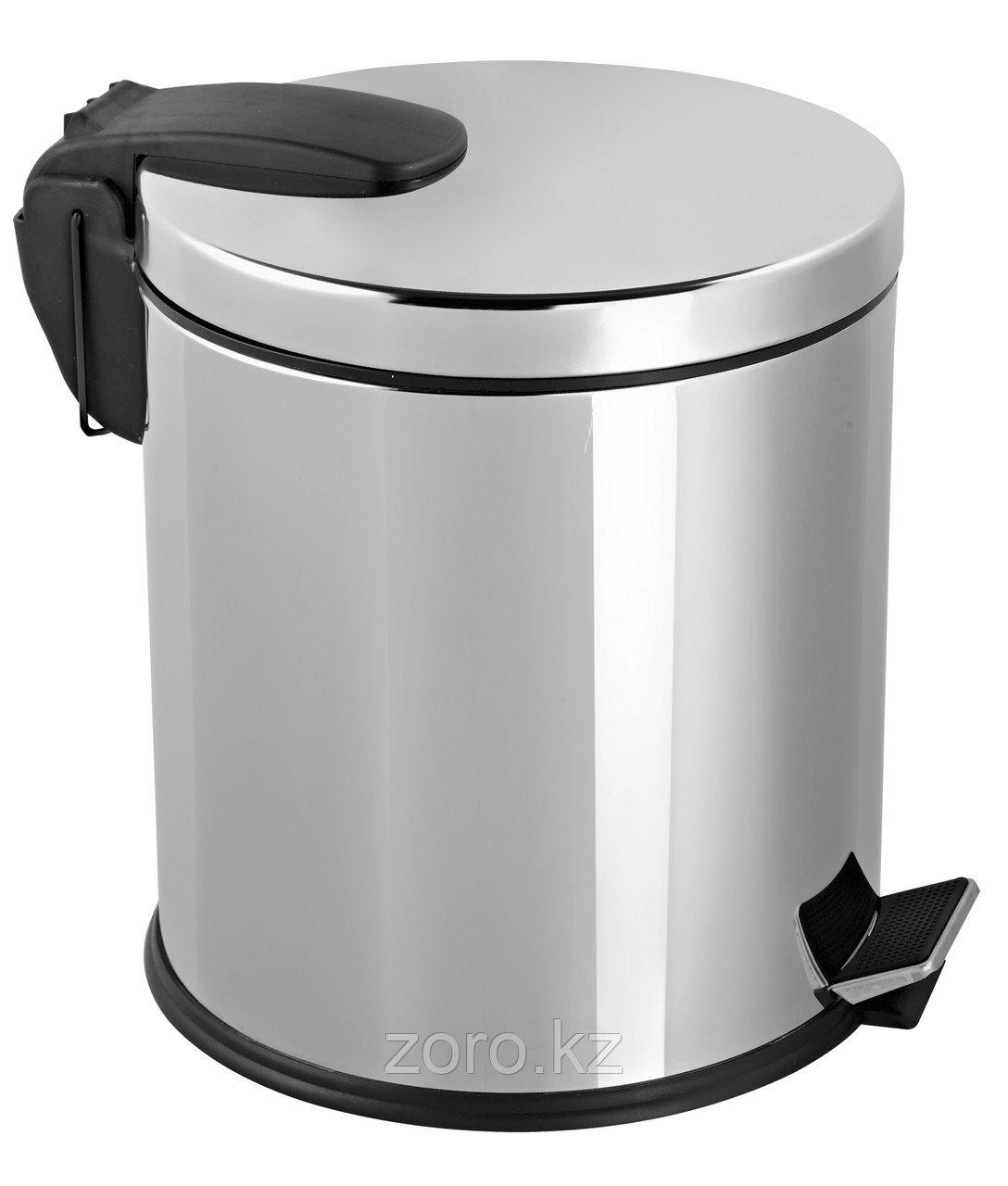 Урна металлическая с педалью 20 литров (хром) ведро для мусора контейнер