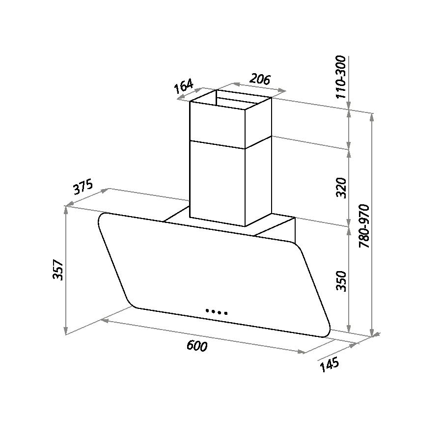 Вытяжка Maunfeld DREAM 60 салатовое стекло - фото 2