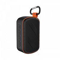 Колонка портативная беспроводная Bluetooth Speaker Redmond RBS-5813, черный с оранжевым