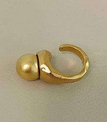 Кольцо СО / золотистый / размер 19