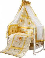 PERINA Комплект в кровать 7 предметов НИКА МИШКА НА ПОДУШКЕ Бежевый, фото 1