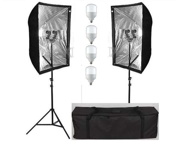 Cофтбоксы 60X90см комплект на стойках с двойными лампами 2Г/4Х50ватт