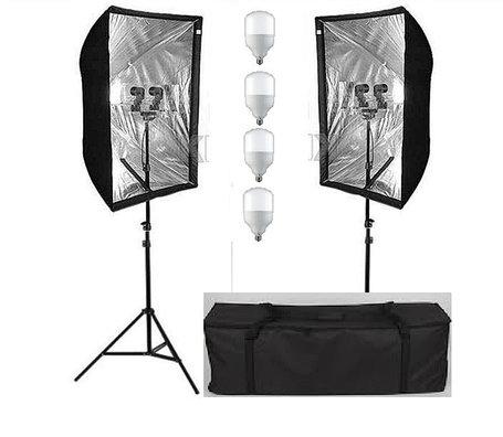 Cофтбоксы 60X90см комплект на стойках с двойными лампами 2Г/4Х50ватт, фото 2