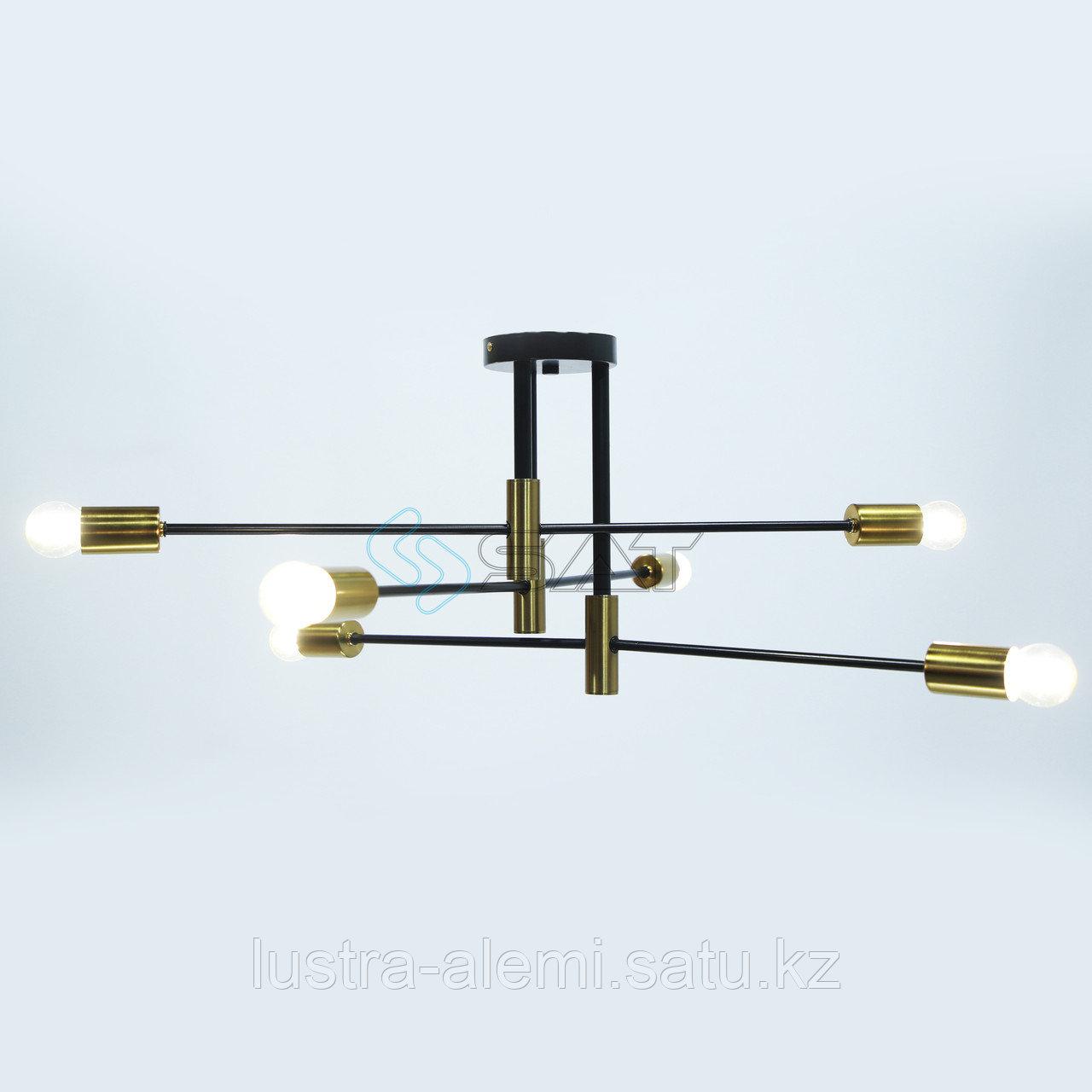 Люстра Hi-Tech T-22/6 BK+GD E27*6