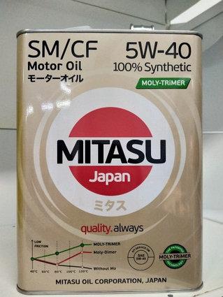 Моторное масло MITASU MOLY-TRiMER SM/CF 5W-40 100% Synthetic