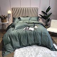 """Комплект постельного белья двуспальный из тенселя с принтом """"гусиная лапка"""""""