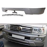 Передняя губа на бампер на Land Cruiser 100 1998-2007 Белый