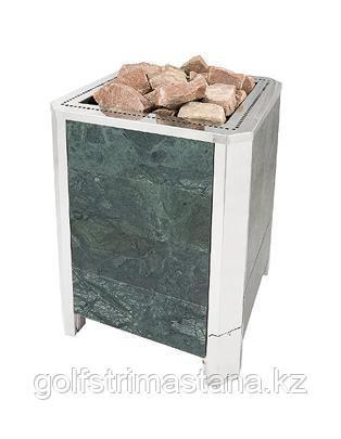 Печь-каменка, (до 20 м3), Премьера М в камне, 18 кВт Серпентинит Премиум