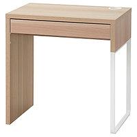 Стол письменный МИККЕ под беленый дуб 73x50 см ИКЕА, IKEA