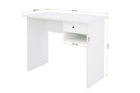 Стол письменный Т-02, Белый, Мебель-Сервис, фото 2