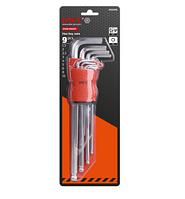 DWT, DHOK-BMX09, Набор метрических шестигранных ключей 9шт., материал хром, закаленный, пластиковая ручка