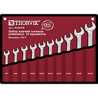 Набор рожковых гаечных ключей Thorvik W1S10TB серии ARC, 6-24 мм, 10 предметов