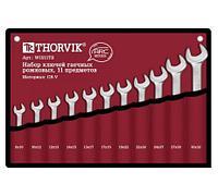 Набор рожковых гаечных ключей Thorvik W1S11TB серии ARC, 8-32 мм, 11 предметов