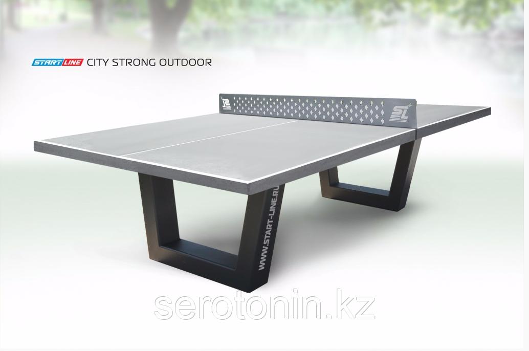 Теннисный стол City Strong Outdoor с сеткой
