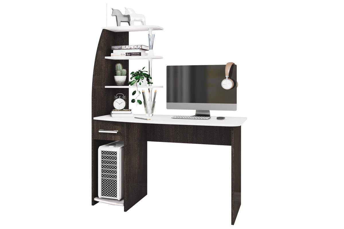 Стол компьютерный, Скай NEW, Венге/Лоредо, БТС Мебель