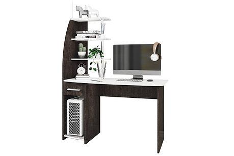 Стол компьютерный, Скай NEW, Венге/Лоредо, БТС Мебель, фото 2