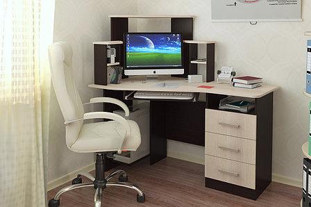 Стол компьютерный, Каспер, Венге/Лоредо, БТС Мебель, фото 2