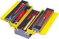 Раскладной ящик с инструментами для сантехников IZELTAS металлический, 28 предметов, 190х420х200 8420005028