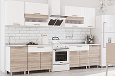 Айсбери Белый/сонома 2,4 м., Кухонный КОМПЛЕКТ, БТС Мебель, фото 2