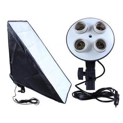 Софтбокс 60Х90 с патроном на 4 ламп E27, фото 2