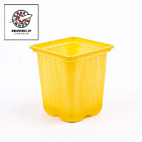 Горшок для рассады желт. 7х7х7 см, объем 0,2л