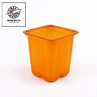 Горшок для рассады оранж. 9х9х8 см, объем 0,4л
