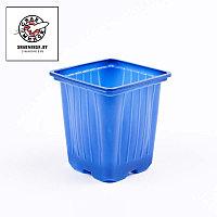 Горшок для рассады синий 9х9х10 см, объем 0,55л