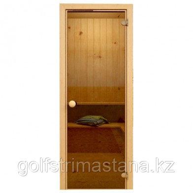 Soul Sauna 700х1870, дверь стекло бронза, коробка СОСНА (Латвия) SOUL SAUNA 700Х1870, ДВЕРЬ СТЕКЛО БРОНЗА,