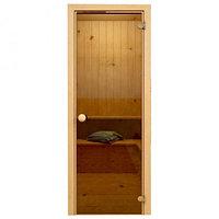 Soul Sauna 700х1870, дверь стекло бронза, коробка ОСИНА (Латвия) SOUL SAUNA 700Х1870, ДВЕРЬ СТЕКЛО БРОНЗА,