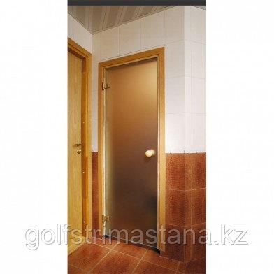 Soul Sauna 700х1870, дверь стекло матовая бронза, коробка СОСНА (Латвия) SOUL SAUNA 700Х1870, ДВЕРЬ СТЕКЛО
