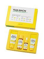 Набор-мини YUJA NIACIN с ниациномидом 5% для осветления постакне и сияния кожи 4 в 1 №90558