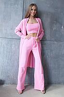 Женские осенние вязаные розовые брюки EV&ES 35 розовый 42р.