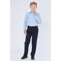 Школьные брюки для мальчика, прямые с посадкой на талии, т-синий, рост 152 (38/M)