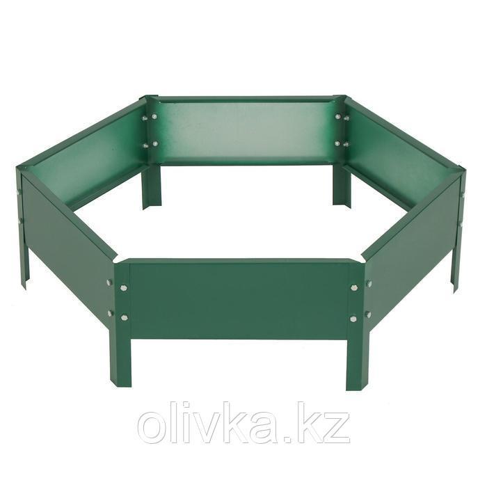 Клумба оцинкованная, d = 80 см, h = 15 см, зелёная, Greengo