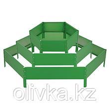 Клумба оцинкованная, 3 яруса, d = 60–100–140 см, h = 45 см, зелёная, Greengo