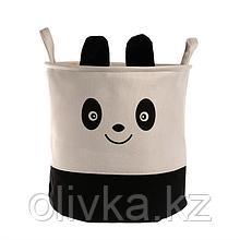 Корзина для хранения игрушек «Панда» 35×35×35 см