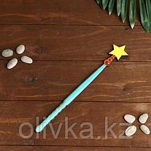 """Сувенир деревянный """"Волшебная палочка феи со звездой, голубая"""""""