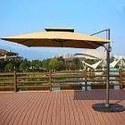 Зонт уличный квадратный Lux с чехлом (3х3м), бежевый (без утяжелителей), фото 2