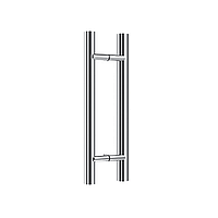 Ручка DG-P-1 800*600*32 | FGD-196.1 SUS202/SSS | Матовая