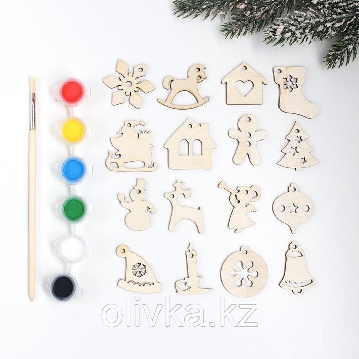 Подвески новогодние №6, 4×4 см - фото 1