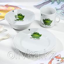 Набор посуды Добрушский фарфоровый завод «Лягушка», 3 предмета