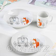Набор посуды «Кофейня», 3 предмета: кружка, тарелка, тарелка глубокая