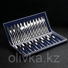 Набор столовых приборов «Уралочка», 42 предмета, толщина 2 мм, декоративная коробка