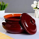 """Набор """"Для пельменей"""" коричневый, 9 предметов: кастрюля 2л, соусник 2х0,23 л/ 0,15 л, миска 6х0,4л, фото 3"""