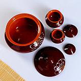 """Набор """"Для пельменей"""" коричневый, 9 предметов: кастрюля 2л, соусник 2х0,23 л/ 0,15 л, миска 6х0,4л, фото 5"""