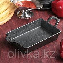 Сковорода «Прямоугольник. Глубокий», 21,5×11,3×3,4 см, чугунные ручки